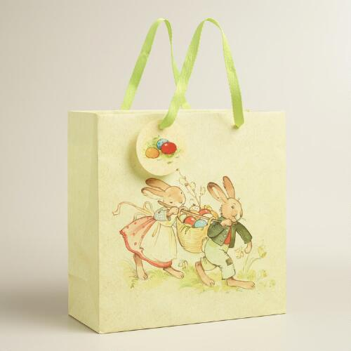 Medium Vintage Bunny Gift Bags Set of 2