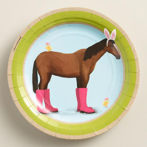 Horse Easter Lunch Plates Set of 12