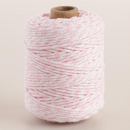 Pink Twist Cotton Twine Set of 2
