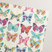 Metallic Butterflies Handmade Wrapping Paper Rolls 2 Pack