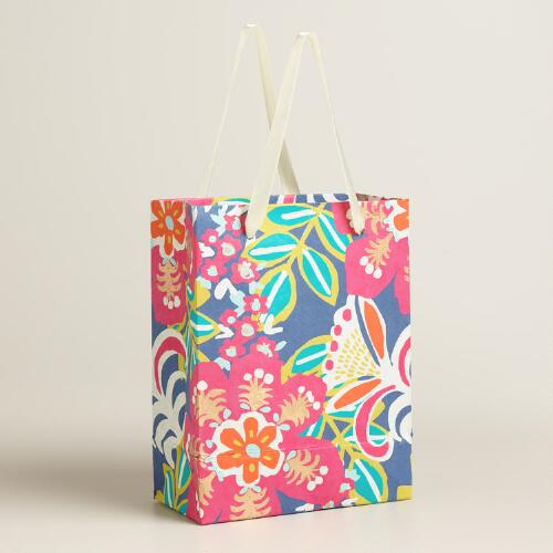 Small Zoom Tropic Handmade Gift Bags Set of 2