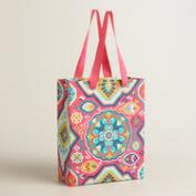 Large Bright Medallion Handmade Gift Bags Set of 2