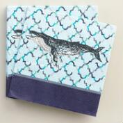 Whale Seaside Modern Beverage Napkins Set of 2