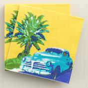 Car Havana Beverage Napkins Set of 2