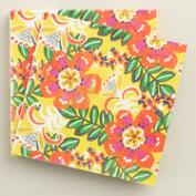 Yellow Floral Havana Lunch Napkins 20 Count