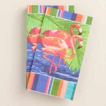 Flamingo Havana Guest Napkins 20 Count