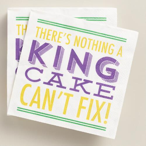 King Cake Beverage Napkins 20 Count