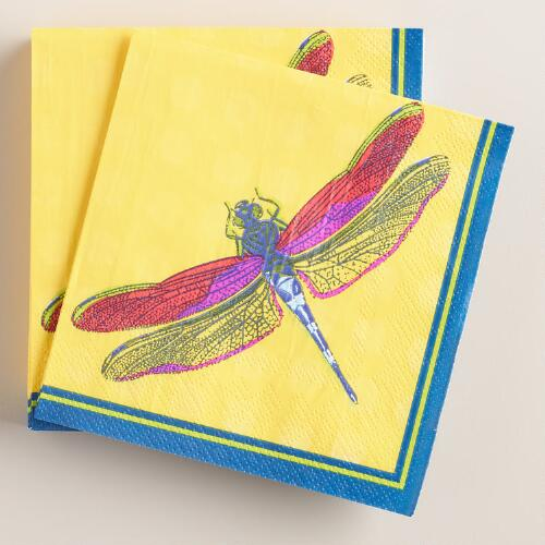 Dragonfly Beverage Napkins Set of 2