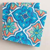 Coral Tile Lunch Napkins 20 Count