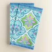 Blue Tile Guest Napkins 20 Count