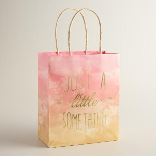 Medium Just A Little Something Kraft Gift Bags Set of 2