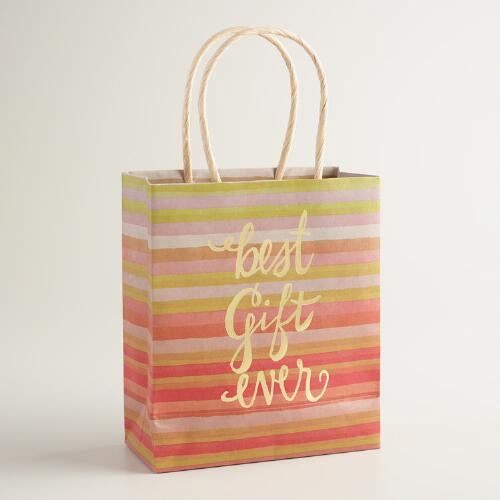 Small Best Gift Ever Kraft Gift Bags Set of 2