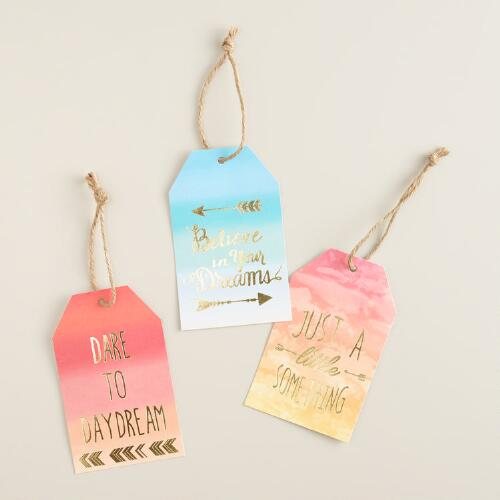 Ombre Kraft Gift Tags Set of 2