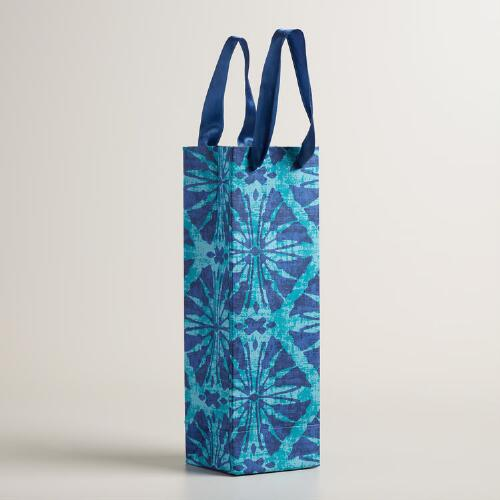 Sea Ikat Handmade Wine Bags Set of 2