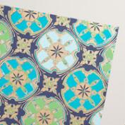 Blue Sand Dollar Handmade Wrapping Paper Rolls Set of 2