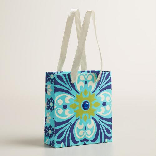 Mini Floral Ocean Handmade Gift Bags Set of 2