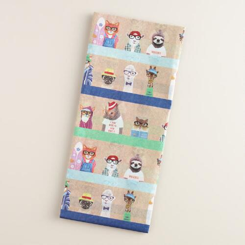 Hipster Animals Tissue Paper Set of 2