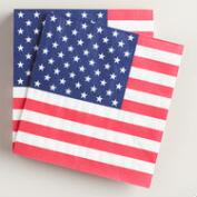 United States Flag Beverage Napkins 20 Count