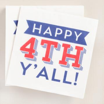 Happy 4th Y'All Beverage Napkins 20 Count