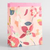 Large Pink Paris Bouquet Handmade Gift Bag