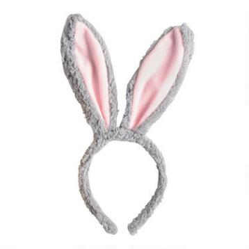 Plush Bunny Ear Easter Headbands Set of 3