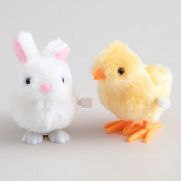 Easter Bunny and Chick Wind Up Toys Set of 2