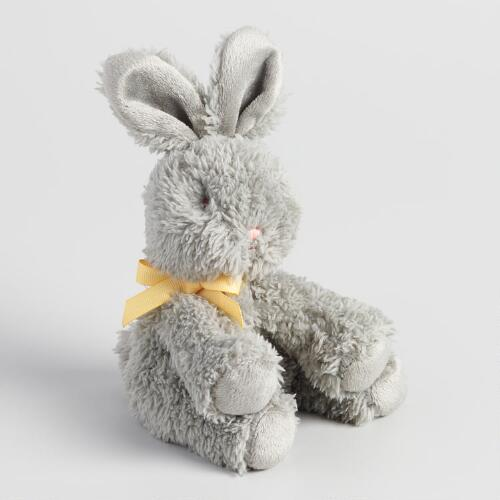 Gray Plush Bunny