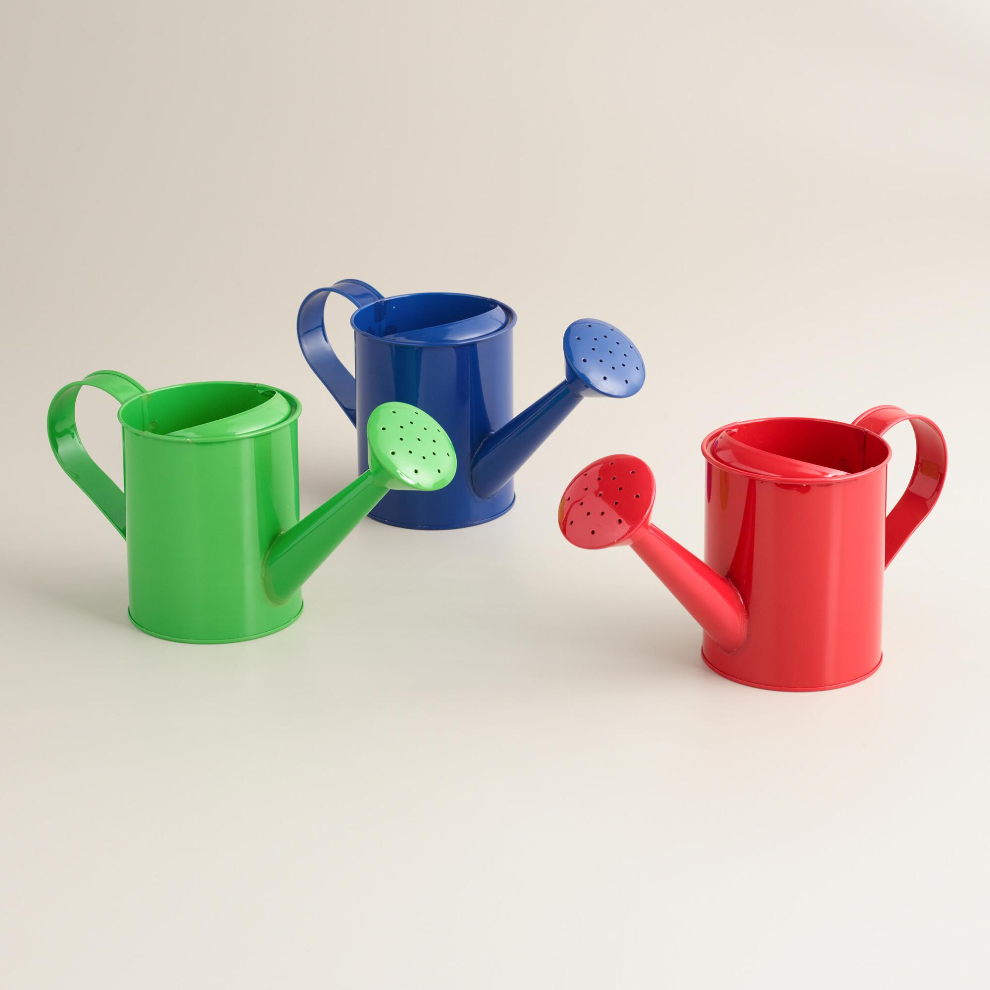 Miniature watering cans set of 3 world market - Sprinkling cans ...