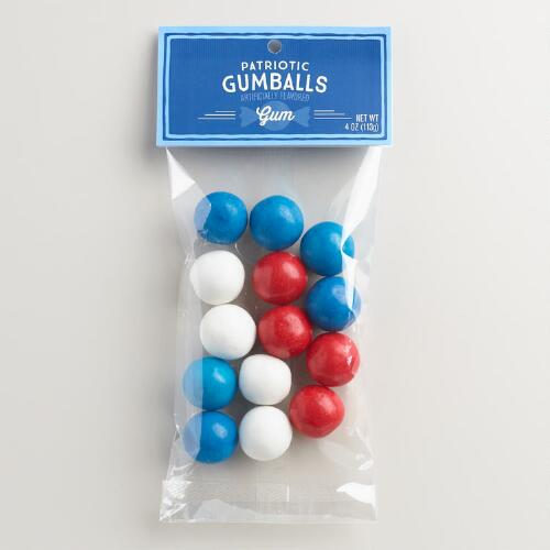 Heritage Red White and Blue Gumballs