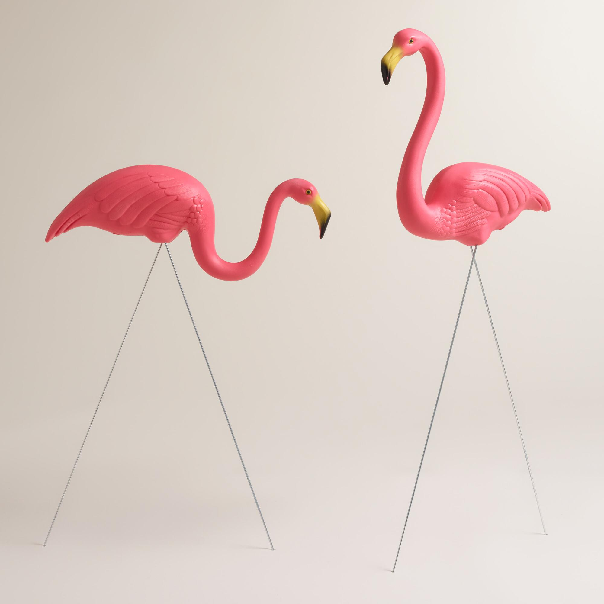 Pink Flamingo Lawn Ornaments 2 Pack World Market