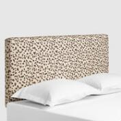 Snow Leopard Loran Upholstered Headboard