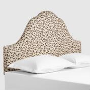 Snow Leopard Elsie Upholstered Headboard