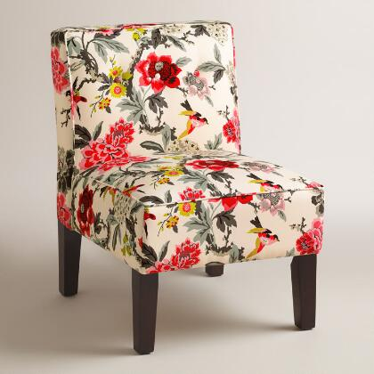 Warm Tone Randen Upholstered Chair with Wood Legs