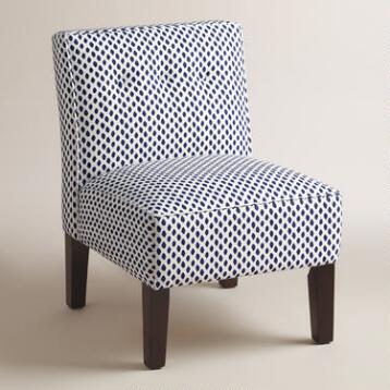 Blue Print Randen Upholstered Chair with Wood Legs