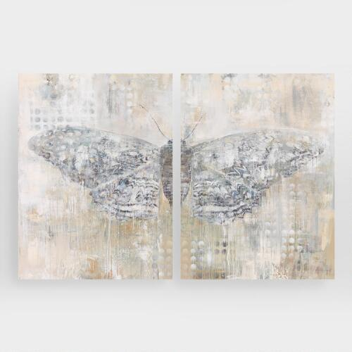 Powdered Wings Diptych I and II by Leila