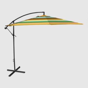 Havana Stripe 10 ft Outdoor Cantilever Umbrella
