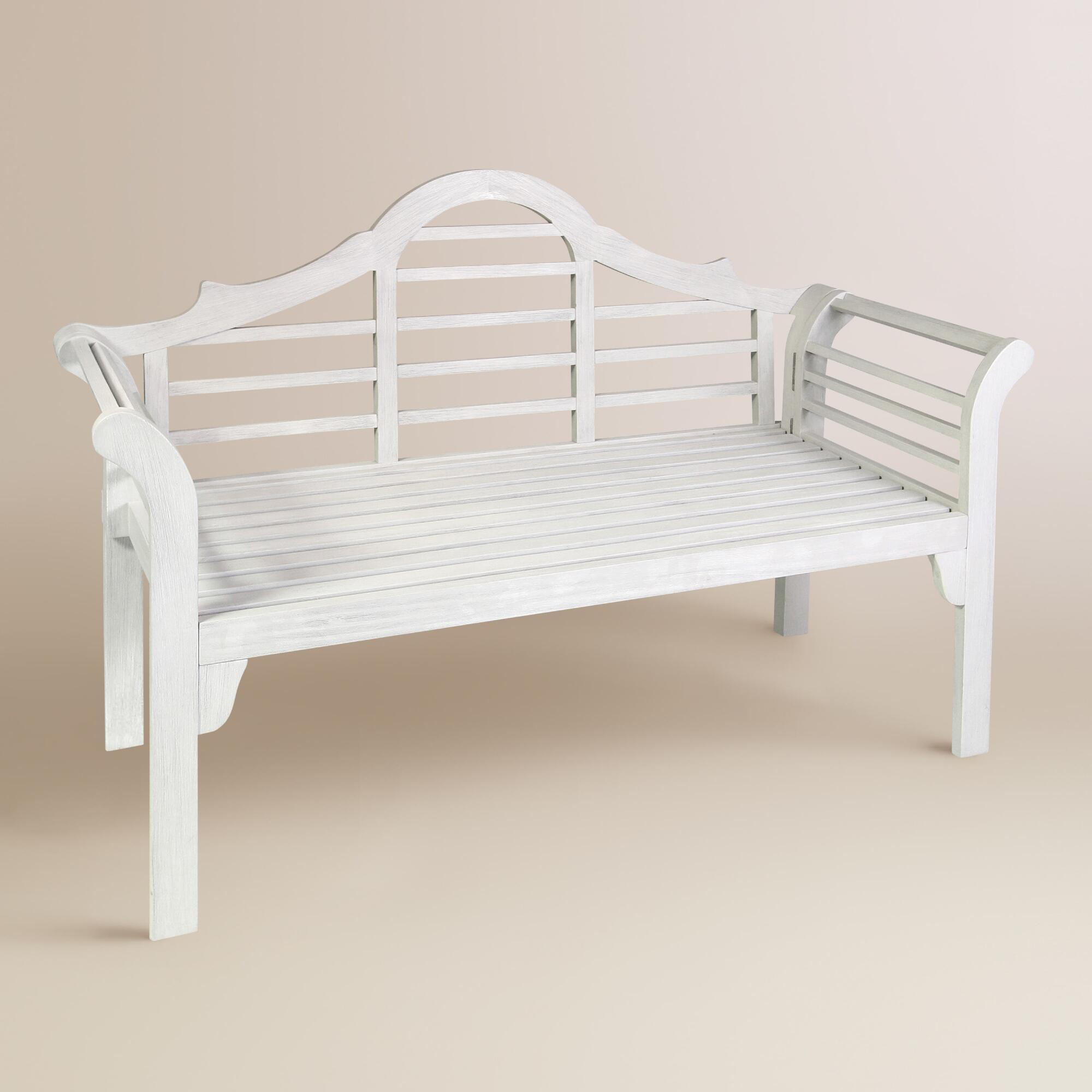 White Wood Lutyens Outdoor Folding Bench World Market