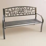 Black Vine Metal Bench