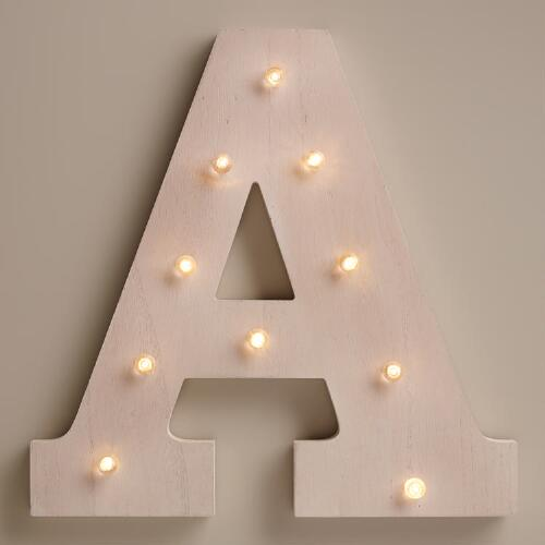 White A LED Battery Operated Marquee Light