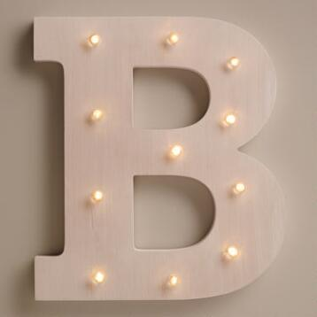 White B LED Battery Operated Marquee Light