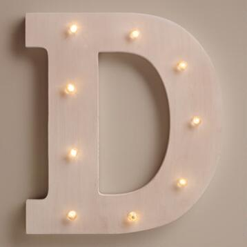White D LED Battery Operated Marquee Light