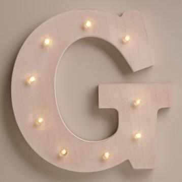 White G LED Battery Operated Marquee Light