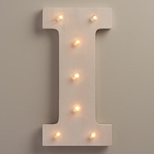 White I LED Battery Operated Marquee Light