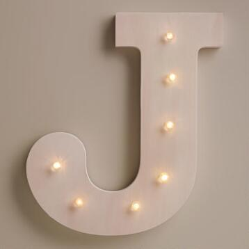 White J LED Battery Operated Marquee Light