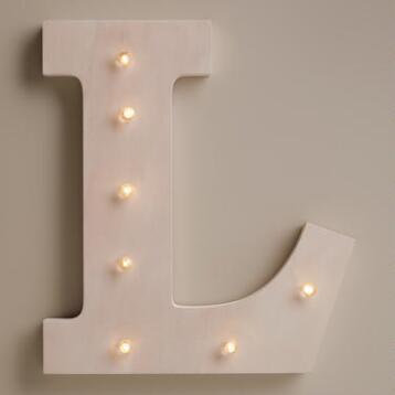 White L LED Battery Operated Marquee Light