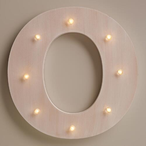 White O LED Battery Operated Marquee Light