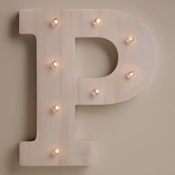 White P LED Battery Operated Marquee Light