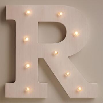 White R LED Battery Operated Marquee Light