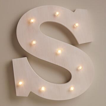 White S LED Battery Operated Marquee Light