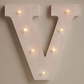 White V LED Battery Operated Marquee Light